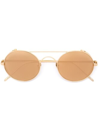 metal women sunglasses yellow orange