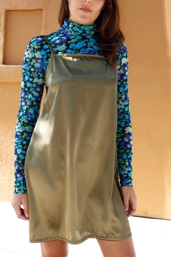 Tori Slip Dress - Seaweed