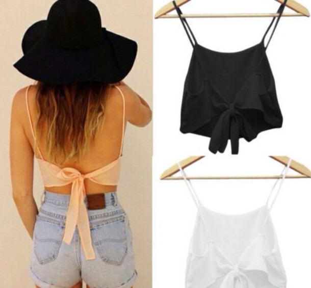 shorts top orange tank top crop tops summer top crop tops