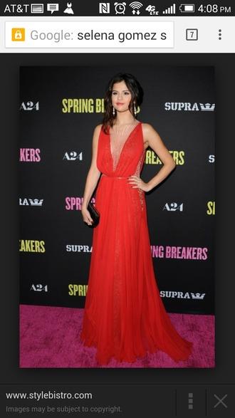 dress red dress v neck long dress prom dress special occasion dress