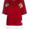 Dsquared2 - logo patch sweater top - women - wool/cotton - s, red, wool/cotton