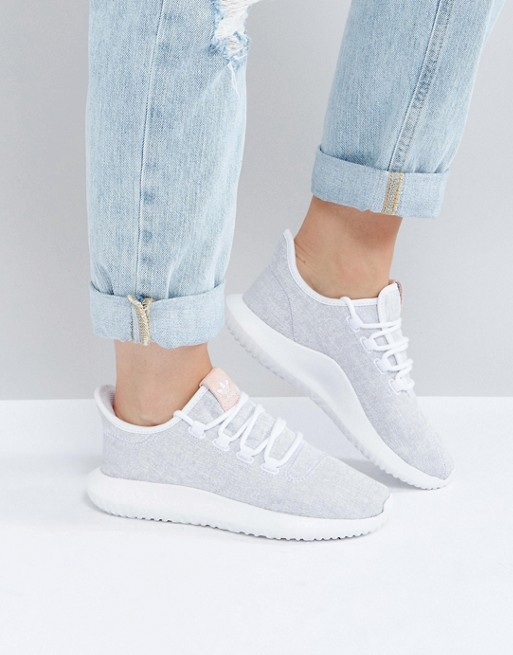 the latest 27f0b 74604 adidas Originals Tubular Shadow Sneaker In White With Pink ...