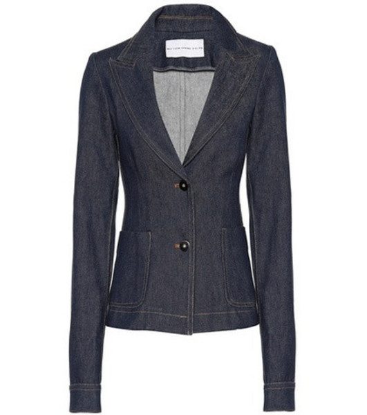 Matthew Adams Dolan Denim blazer in blue