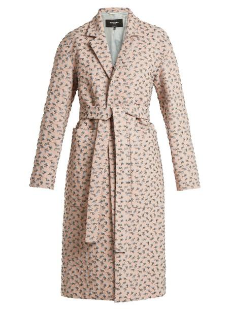 Rochas coat rose pink