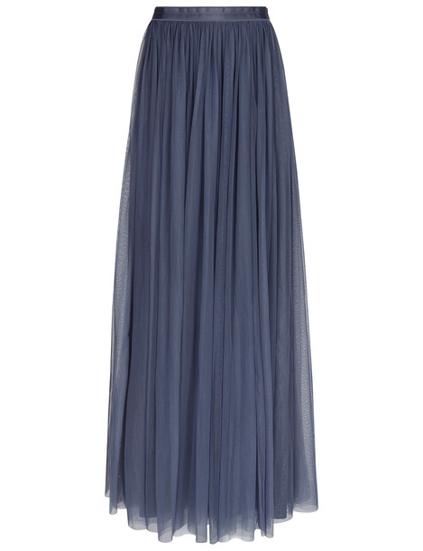 7b9aa3a57b6eb Needle   Thread Slate Blue Tulle Maxi Skirt - Wheretoget