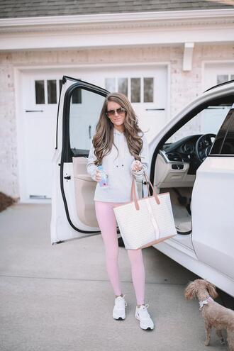 southern curls and pearls blogger bag sweater leggings sunglasses jacket shoes tote bag hoodie sportswear