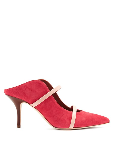 MALONE SOULIERS mules suede pink shoes