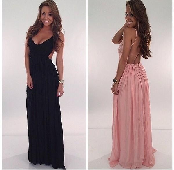 dress black sexy dress open back dresses dress long dress maxi dress long pink dress maxi dress sexy dress maternity dress baby shower