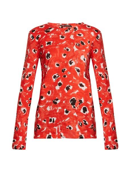 Proenza Schouler top long cotton print red