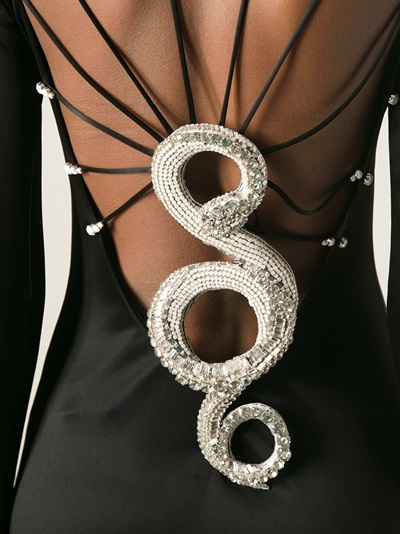 Roberto Cavalli Snake Back Evening Dress - Elite - Farfetch.com