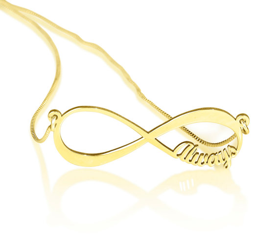Infinity name pendant / infinite necklace / handwriting jewelry / personalized gift