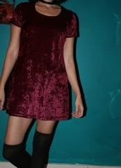 dress,crushed velvet,mini dress,dresd,grunge,90s style