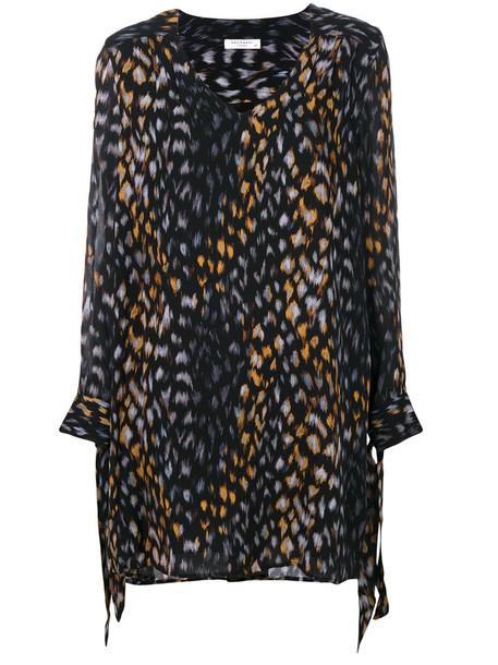 Equipment dress women black silk