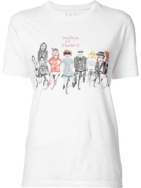 Unfortunate Portrait t-shirt shirt t-shirt women white cotton top