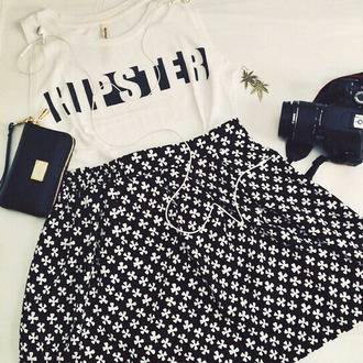 top hipster top blanc