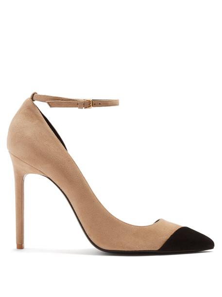 suede pumps pumps suede nude black shoes