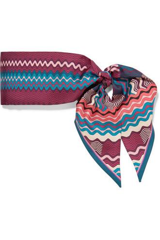scarf silk burgundy