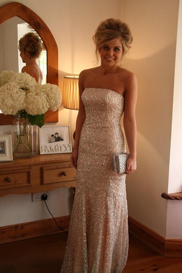 floor length prom dress long dress sparkles dress