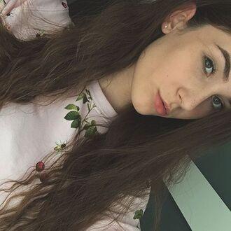 blouse yeah bunny sweatshirt pastel pink cherry cute fruits