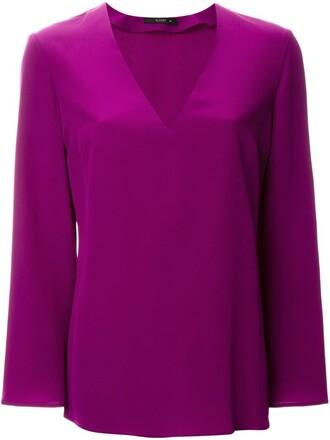 blouse purple pink top