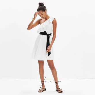 dress white dress one shoulder graduation dress
