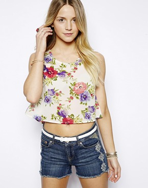 Neon Rose | Neon Rose Floral Crop Top at ASOS