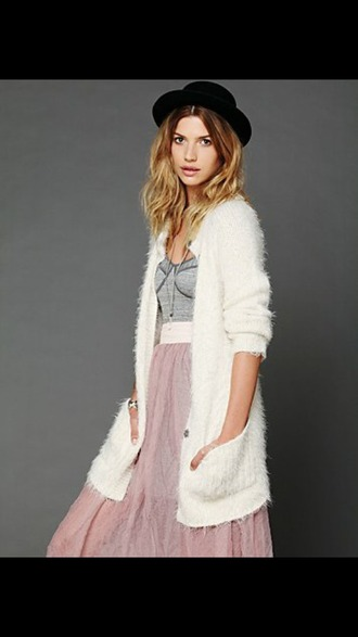 cardigan white gilet vest fluffy