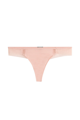 thong mesh rose underwear