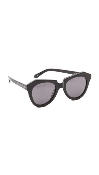 Karen Walker Number One Sunglasses - Black/Smoke Mono