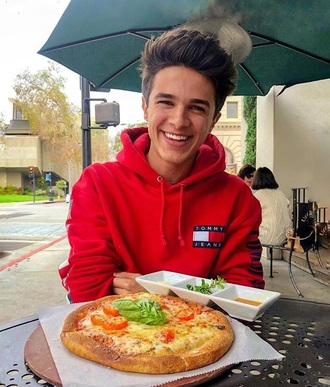sweater brent rivera tommy hilfiger red