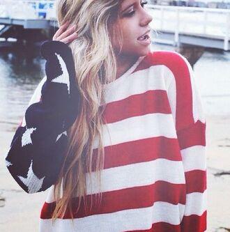 us sweater usa flag