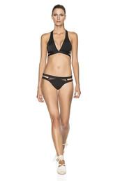 swimwear,agua bendita,bikini bottoms,bikini,bikini top,black,hand embroidered,racerback,top,bikiniluxe