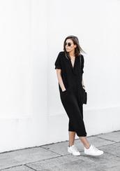 modern legacy,blogger,bag,sunglasses,sneakers,black,minimalist