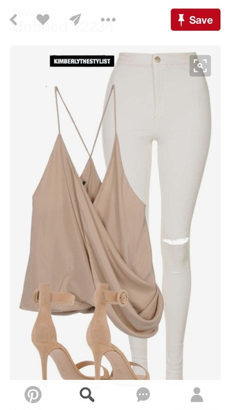 blouse nude top tank top