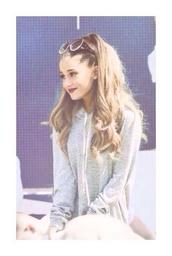 ariana grande,hoodie,grey,sweater,sunglasses,nike