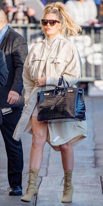 coat dress boots kardashians khloe kardashian fall outfits