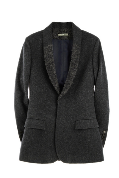 Shawl Collar Wool-blend Blazer - OASAP.com