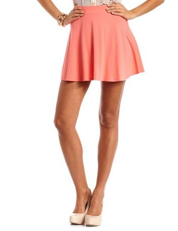 PEACH COTTON SKATER SKIRT on The Hunt