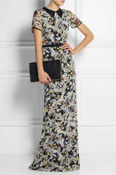 Erdem|Fern floral-print silk-crepe gown|NET-A-PORTER.COM
