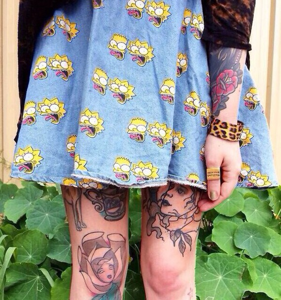 the simpsons blue skirt skirt lisa simpsons bart simpson jeans lisa simpson denim skirt