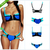 Women's Bandage Zip Bikini Set Push Up Padded Vintage Bikinis Set Swimsuit Swimwear Size:S M L-in Bikinis Set from Apparel & Accessories on Aliexpress.com