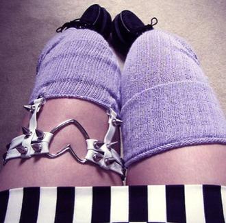 socks pastel black boots combat boots black combat boots demonia pastel goth pastel purple pastel socks kawaii kawaii grunge pastel grunge thigh highs knee high socks tights