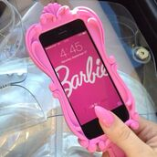 phone cover,pink dress,bag,barbie,iphone case,iphone 5 case