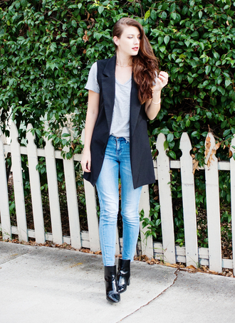 these days blogger jacket shirt jewels jeans shoes make-up
