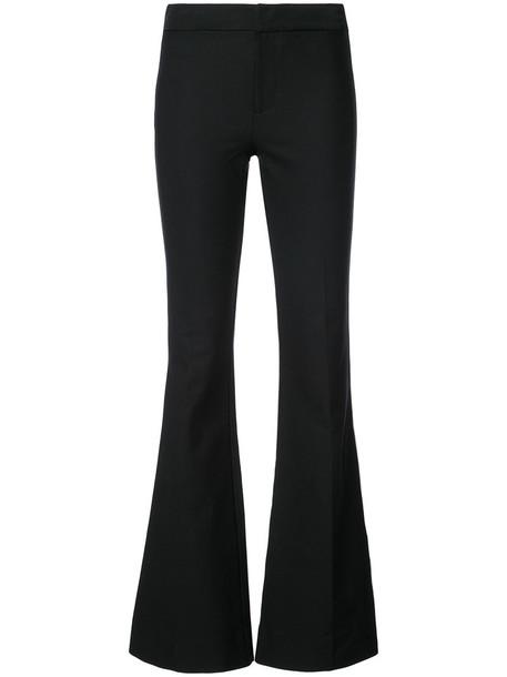 DEREK LAM 10 CROSBY flare women cotton black pants