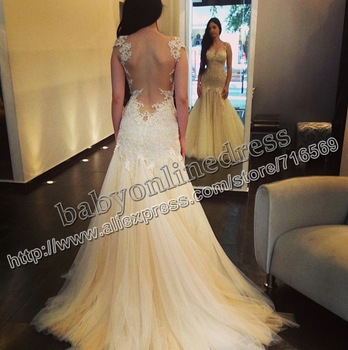 Aliexpress.com : Buy Free shipping Elegant elie saab evening dress 2013 for sale royal blue transparent lace Valentine's gift prom dress from Reliable dress you suppliers on Suzhou Babyonline dress Co.,LTD