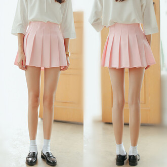 skirt pink girly cute fashion style light pink mini skirt