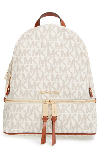 c3a4bc13f467 MICHAEL Michael Kors 'Small Rhea Zip' Leather Backpack | Nordstrom