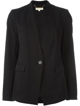 blazer women spandex cotton black jacket