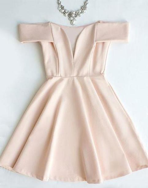 Pink short prom dress, cute pink homecoming dress · Denisestore